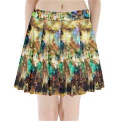 Abstract Digital Art Pleated Mini Skirt