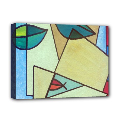 Abstract Art Face Deluxe Canvas 16  X 12