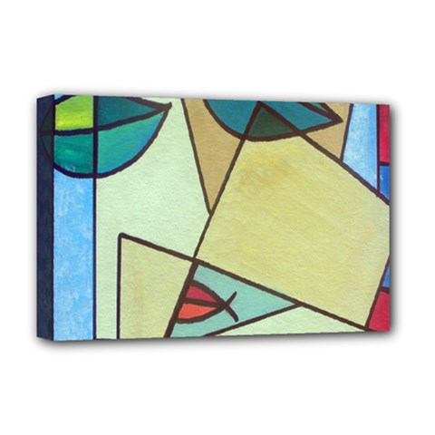Abstract Art Face Deluxe Canvas 18  x 12