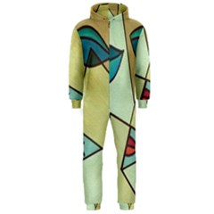 Abstract Art Face Hooded Jumpsuit (Men)