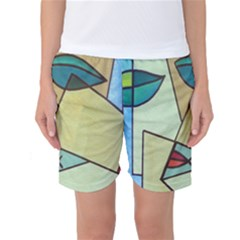 Abstract Art Face Women s Basketball Shorts