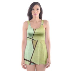 Abstract Art Face Skater Dress Swimsuit