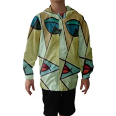 Abstract Art Face Hooded Wind Breaker (Kids)