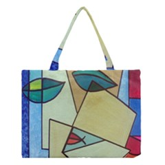 Abstract Art Face Medium Tote Bag