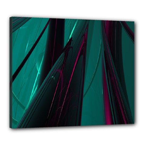 Abstract Green Purple Canvas 24  x 20