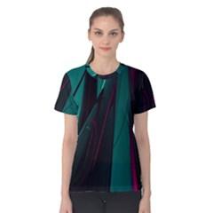 Abstract Green Purple Women s Cotton Tee