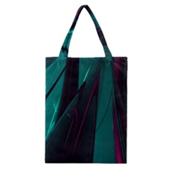 Abstract Green Purple Classic Tote Bag