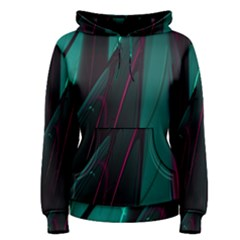 Abstract Green Purple Women s Pullover Hoodie