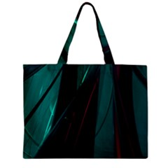 Abstract Green Purple Zipper Mini Tote Bag