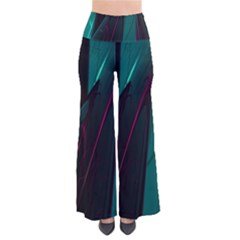 Abstract Green Purple Pants