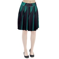 Abstract Green Purple Pleated Skirt
