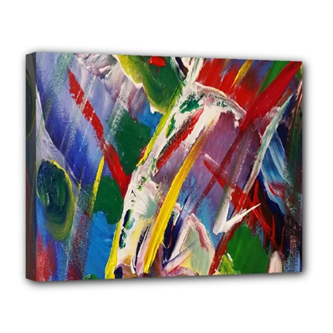 Abstract Art Art Artwork Colorful Canvas 14  X 11