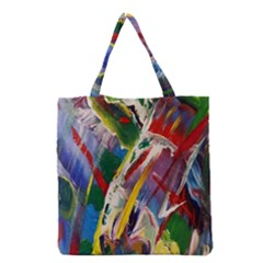 Abstract Art Art Artwork Colorful Grocery Tote Bag