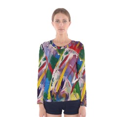 Abstract Art Art Artwork Colorful Women s Long Sleeve Tee