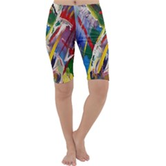 Abstract Art Art Artwork Colorful Cropped Leggings