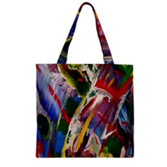 Abstract Art Art Artwork Colorful Zipper Grocery Tote Bag