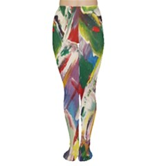 Abstract Art Art Artwork Colorful Women s Tights