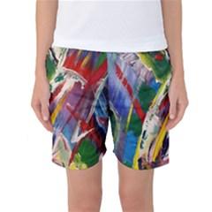 Abstract Art Art Artwork Colorful Women s Basketball Shorts