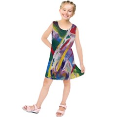 Abstract Art Art Artwork Colorful Kids  Tunic Dress