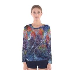 Abstract Digital Art Women s Long Sleeve Tee