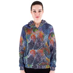 Abstract Digital Art Women s Zipper Hoodie