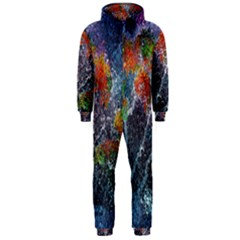 Abstract Digital Art Hooded Jumpsuit (Men)