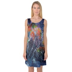 Abstract Digital Art Sleeveless Satin Nightdress