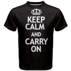 Black Keep Calm And Carry On Tee