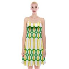 Green Yellow Shapes                                         Spaghetti Strap Velvet Dress