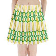 Green Yellow Shapes                                             Pleated Mini Mesh Skirt