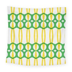 Green Yellow Shapes                                                                                                                  Square Tapestry