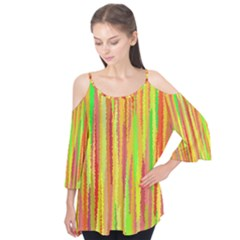 Paint Traces                               Flutter Sleeve Tee