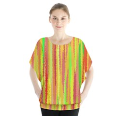 Paint Traces                                         Batwing Chiffon Blouse