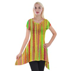 Paint Traces                                                 Short Sleeve Side Drop Tunic