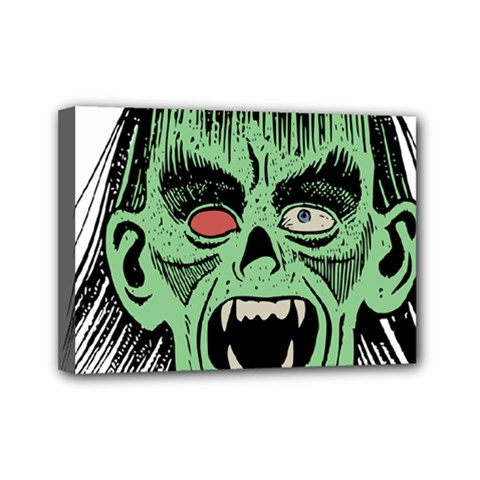 Zombie Face Vector Clipart Mini Canvas 7  x 5