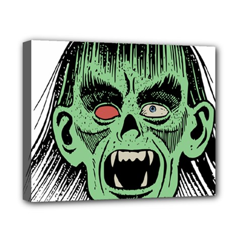 Zombie Face Vector Clipart Canvas 10  x 8
