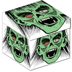 Zombie Face Vector Clipart Storage Stool 12