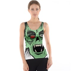 Zombie Face Vector Clipart Tank Top