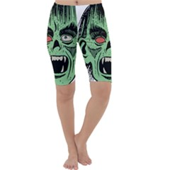 Zombie Face Vector Clipart Cropped Leggings