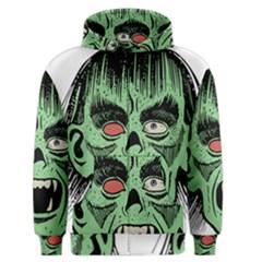 Zombie Face Vector Clipart Men s Zipper Hoodie