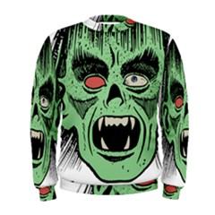 Zombie Face Vector Clipart Men s Sweatshirt
