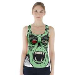 Zombie Face Vector Clipart Racer Back Sports Top