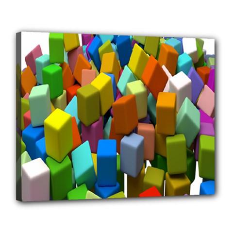 Cubes Assorted Random Toys Canvas 20  x 16