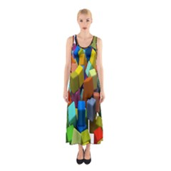 Cubes Assorted Random Toys Sleeveless Maxi Dress