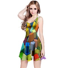 Cubes Assorted Random Toys Reversible Sleeveless Dress