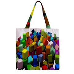 Cubes Assorted Random Toys Grocery Tote Bag
