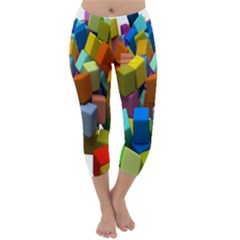 Cubes Assorted Random Toys Capri Winter Leggings