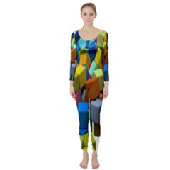 Cubes Assorted Random Toys Long Sleeve Catsuit