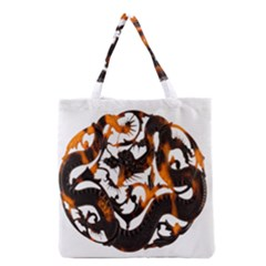 Ornament Dragons Chinese Art Grocery Tote Bag