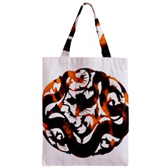 Ornament Dragons Chinese Art Zipper Classic Tote Bag
